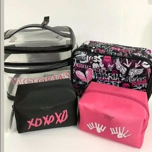 Victoria's Secret travel bag makeup